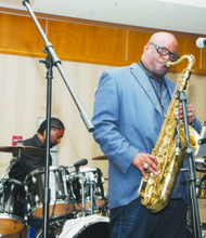 "A self-described classical geek, D. Floyd attended The Duke Ellington School of the Arts in Northwest. He tried out for a spot with the band Rare Essence in the early-1980s and clinched the job with his rendition of Grover Washington's ""Mr. Magic."""