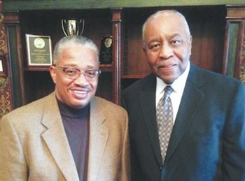 Ronnie Elam (left) and Thomas Taylor hope to build a casino in their own backyard in Fort Washington, Md.