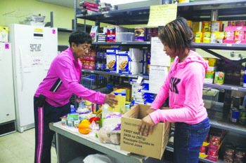 Volunteers at food pantries in southern Prince George's County said that the government shutdown has caused a spike in clients ...