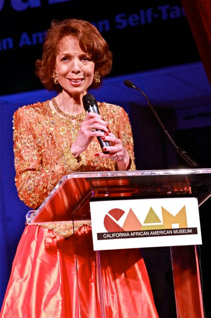 "Artist and ""artpreneur,""  Phoebe Beasley, speaks about her life and career after receiving CAAM's Lifetime Achievement Award at the museum's annual gala."