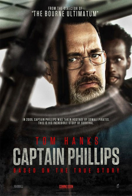 I just previewed the movie Captain Phillips and found it to be exhilarating, on the edge if my seat drama ...