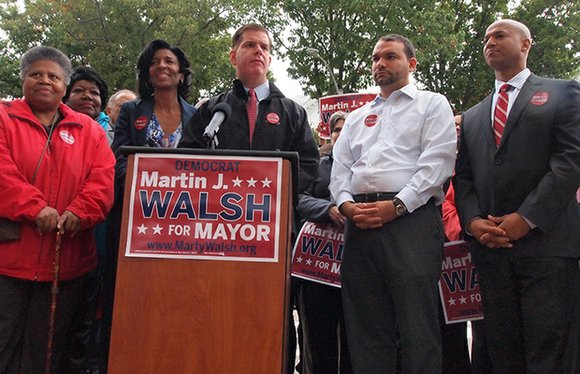State Rep. Marty Walsh turned up the heat in the mayoral race, kicking off last week with a one-two punch ...