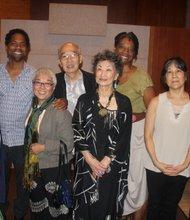 L to R (front row): Suki Terada Ports, Teddy Yoshikami, Koho Yamamoto, Tomie Arai, Franklin Odo, (back row) Daniel Carlton, Franklin Odo, Stephanie Berry