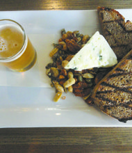Props go out to the Local Cheese & Beer Tasting Plate at Big Grove Tavern.