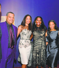 At the Harlem School of the Arts' 2013 gala, honorees included (L to R) Christopher Williams, chairman and CEO of Williams Capital Group LP; actors Laurence Fishburne and Gina Torres; Janice Savin, senior principal at Williams Capital Group; Yvette Campbell, president and CEO of Harlem School of the Arts; and Michael Campbell, chief operating officer of Cofinance Inc.