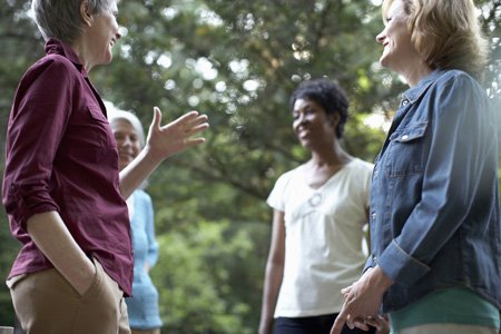 Research has shown that people with breast cancer are helped by the support they receive from friends.