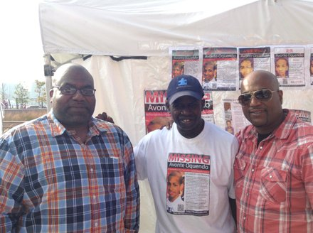 (L to R) search leader Donnell Nichols, activist Calvin Hunt and Daniel Oquendo, Sr.