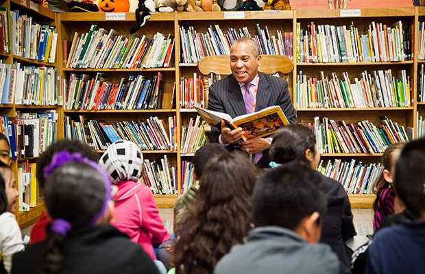 Last Wednesday, Governor Patrick visited the Harrington Elementary School in Lynn to celebrate the school's rapid gains in student achievement.