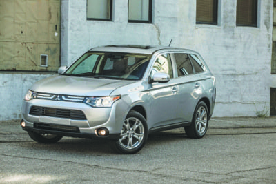 Among compact-to-mid-size crossovers, the new 2014 Mitsubishi Outlander offers one of the strongest sets of standard equipment for the money. (Courtesy of Mitsubishi Motors North America, Inc.)