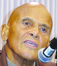 Harry Belafonte addresses a plenary panel on Oct.12 at the Institute for Policy Studies 50th Anniversary celebration.