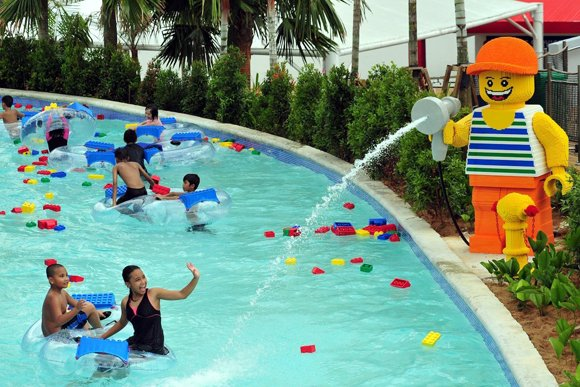 Asia's first Legoland Water Park opens in Malaysia, about 50 kilometers from Singapore.