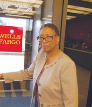 Laverne Hampton retires after a 49-year career with Wells Fargo bank.
