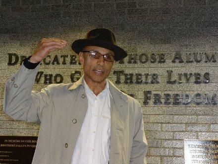 Professor at Hunter College (I believe) speaks in solidarity with student demands. He is also a Vietnam Vet