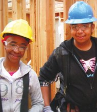 Young people enrolled in Portland YouthBuilders learn skills for vocational careers.