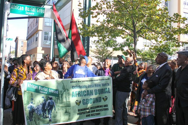 African American Burial Ground Square Street was unveiled in East New York, Brooklyn.