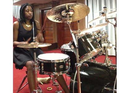 Drummer Sydney Young, oldest among the winners of the Rosa Pryor Music Scholarship Fund will perform a solo at the Awards Banquet.