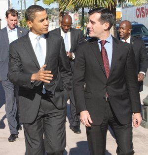 Los Angeles Mayor Eric Garcetti met with President Barack Obama today during his first visit to the nation's capital since ...