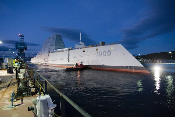 The Navy's newest warship slipped out of dry dock this week into the waters of Maine, marking a new era ...