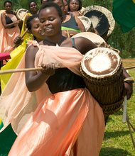 The Ingoma Nysha Drummers contains women of both Tutsis and Hutus background and has about 60 members.