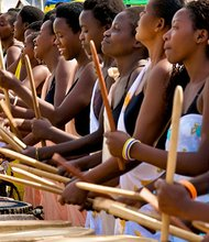 "The Ingoma Nysha Drummers are an all-female drumming troupe in Rwanda that is the subject of a documentary ""Sweet Dreams"" by Lisa and Rob Fruchtman."