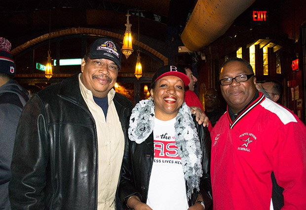 CityLine's Karen Holmes Ward and husband Forrest Ward and ,The Base and Boston Astros founder Robert Lewis, Jr.