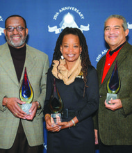 DCTV's 25th Anniversary Celebration on Saturday, Oct 26, honored local heroes, including WAMU radio host Kojo Nnamdi, Denise Rolark Barnes, publisher of The Washington Informer, and William Lightfoot, an attorney and former D.C. Council member. (Donnamaria Jones/DCTV)