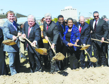 Mississippi officials, civil rights leaders and school children broke ground Oct. 24 on the landmark Museum of Mississippi History and ...