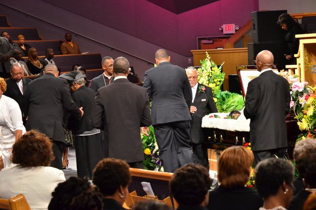 Friends and family filled the pews of University Park Baptist Church in Charlotte, N.C., on Oct. 30 to bid farewell to Sheila Stewart. Stewart, a longtime radio personality in D.C., was killed Oct. 24 in an automobile accident in Atlanta. (Paul Williams/Paul-3 Photography)