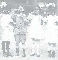 The first-grade class of the Miner Normal School, located in Northwest Washington, is seen here. The initial curriculum provided African Americans instruction in reading, writing and basic math, as well as social and personal hygiene classes. (Courtesy photo)