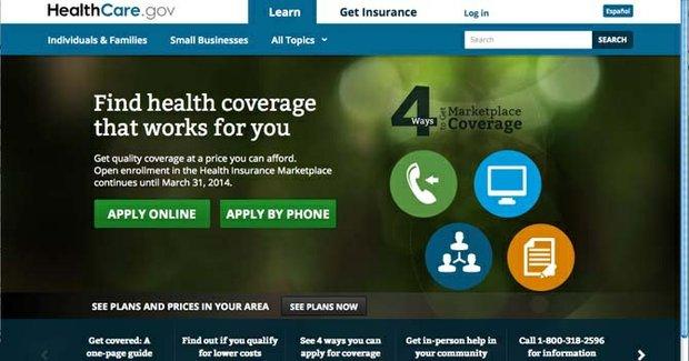 Screenshot of HealthCare.gov, Oct. 29.