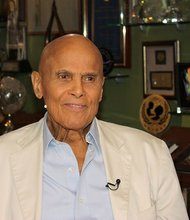 Harry Belafonte during an interview with CNN on May 24, 2012.