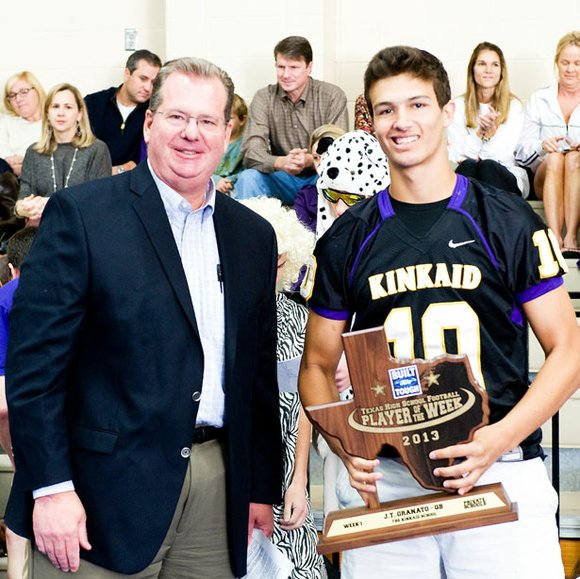 Mac Haik Ford To Present Built Ford Tough Texas High School Football Player Of The Week Trophy