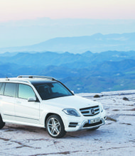 The Mercedes-Benz GLK250 is fitted with an entire warehouse of gadgets and safety features that include split rear seats that fold flat in a single motion and an expansive glass Panorama roof. (Courtesy of Mercedes-Benz USA)