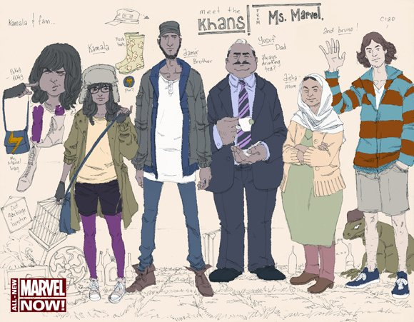 Comic book fans meet Ms. Marvel, Marvel Comic's first Muslim-American superhero. Kamala Khan, a fictional New Jersey teenager, transforms into Ms. Marvel in the debut of Marvel's new monthly series in January, the comic book publisher said.