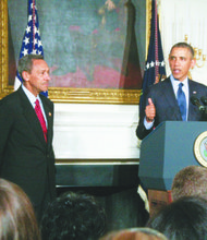 President Barack Obama nominated Rep. Melvin Watt (left), North Carolina Democrat, for director of the Federal Housing Finance Agency earlier this year. Republican senators blocked his confirmation on Oct. 31.