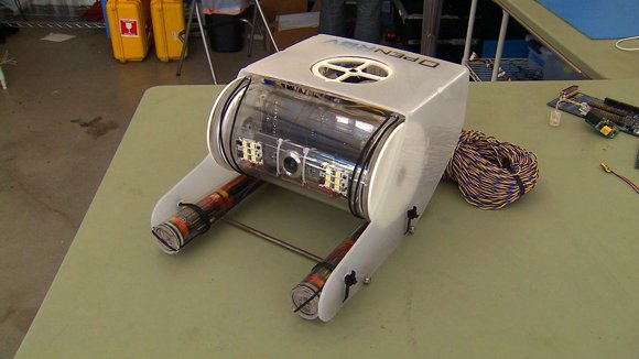 A new submersible robot — sort of an underwater drone — could open up undersea exploration. The OpenROV, invented by Eric Stackpole and David Lang, can be controlled remotely with a laptop.