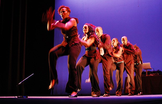 Step Afrika! models its stepping dance routines after the stepping style of African American fraternities and sororities, traditional African dance and other art forms. (Photo courtesy of The Napolean Complex Project)