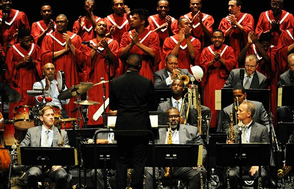 "Midway through the ""Abyssinian Mass: A Gospel Celebration,"" composed by jazz master Wynton Marsalis and performed recently at Boston Symphony ..."