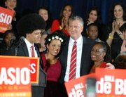 Bill di Blasio and family