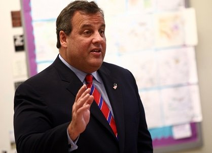 Governor Chris Christie visits Jose Marti Freshman Academy in Union City, N.J. on Wednesday, Nov. 6, 2013.
