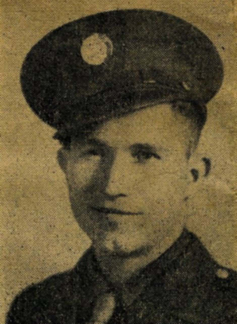 Army Pfc. Clarence M. Merriott, 21, of Stilwell, Oklahoma was killed on D-Day+13, June 19, 1944, off the coast of Utah Beach in France. Merroitt served with the 300th Engineer Combat Battalion.