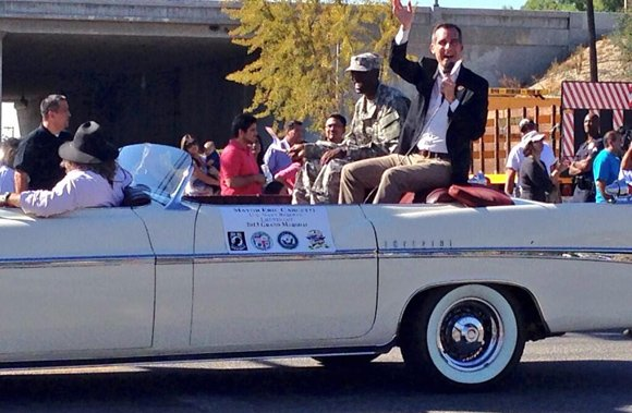Mayor Eric Garcetti was the grand marshal of today's 10th annual San Fernando Valley Veterans Day Parade, the first elected ...