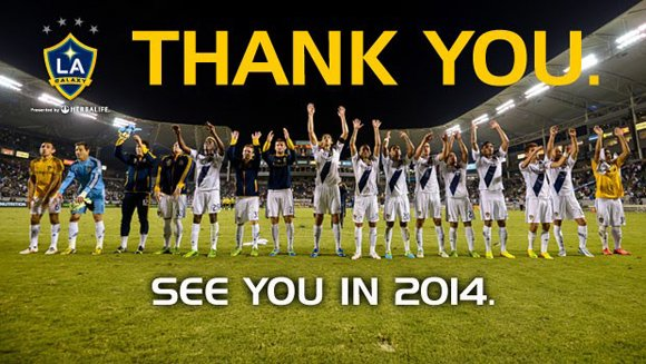 2013 Los Angeles Galaxy team, after its defeat against Real Salt Lake, 2-0, in the semi-finals.