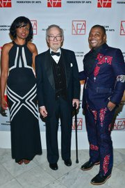 Pauline Willis, Eugene V. Thaw and Kehinde Wiley (left to right)