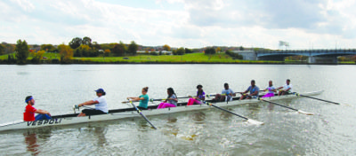 Students who attend Eliot-Hine Middle School and Eastern High School row on the Anacostia River. (Courtesy photo)