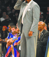 Knicks coach Mike Woodson is feeling the heat from the top guy at the Garden.