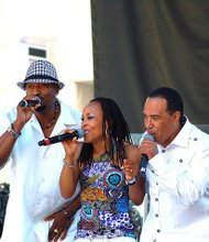 Samuelle Prater, Valerie Watson English and Jay King of Club Nouveau (left to right)