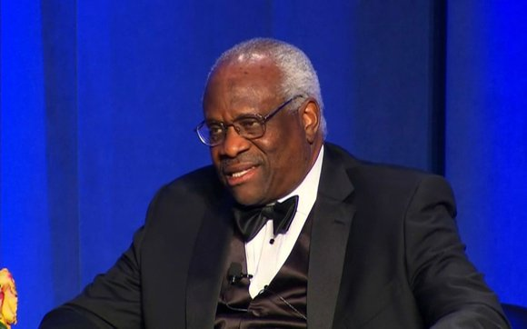 "Justice Clarence Thomas reflected on his long journey from childhood poverty to service on the highest court in the land, telling a conservative audience Thursday, November 14, 2013, ""I have this wonderful opportunity to go to work everyday — I didn't always feel that way."""