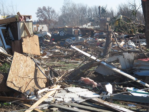 Sunday's outbreak of severe weather spawned more than 60 tornadoes and caused damage in several Midwestern states, including Illinois, Indiana and Missouri. Six people died in Illinois, authorities said, and as many as 200 people were injured statewide.