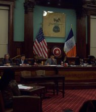 "City Council holds hearing on ""shop-and-frisk."""